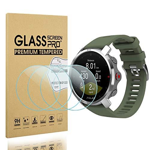 Diruite - Juego de 4 protectores de pantalla para Polar Grit X (cristal blindado, antiarañazos, antiaceite, sin burbujas)
