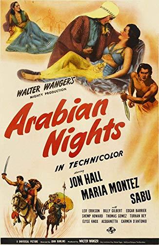 BOIPEEI Rompecabezas de Madera de 1000 Piezas, Rompecabezas para Adolescentes, Adultos, Juego de Rompecabezas Grande, Juguetes, Ilustraciones, película de Arabian Nights