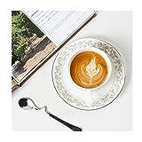 FANMENGY Cup La taza de café, taza de cerámica del café, Set, creativo taza de cerámica, y platillo conjunto de 6, estilo europeo, seis tazas, platos Seis, Cup Holder Seis cucharas + 1, taza creativa