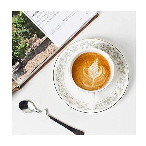 ZJN-JN CUP La taza de café, taza de cerámica del café, Set, creativo taza de cerámica, y platillo conjunto de 6, estilo europeo, seis tazas, platos Seis, Cup Holder Seis cucharas + 1, taza creativa ta