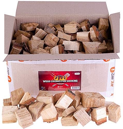 Zorestar Oak Smoker Wood Chunks 15-20 lb- BBQ Cooking Chunks for All Smokers - Dry Wood (10-12% Moisture) for Smoking