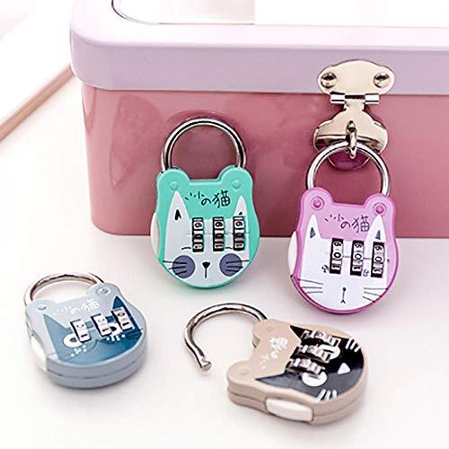1-teiliges Koffer-Vorhängeschloss, Koffer-Rucksack-Zahlenschloss, Cartoon-Mini-Schlüssel-Vorhängeschloss, Handtaschen-Zahlenschloss