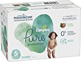 Diapers Size 5, 132 Count - Pampers Pure Disposable Baby Diapers, Hypoallergenic and Unscented Protection, ONE MONTH SUPPLY diaper bag backpack May, 2021