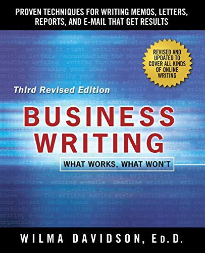 Compare Textbook Prices for Business Writing Third Edition, Revised Edition ISBN 9781250075499 by Davidson, Wilma