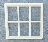 Melody Jane Puppenhaus Kunststoff Weiß Georgischer Fenster Rahmen 6 Scheibe Miniatur DIY Builders