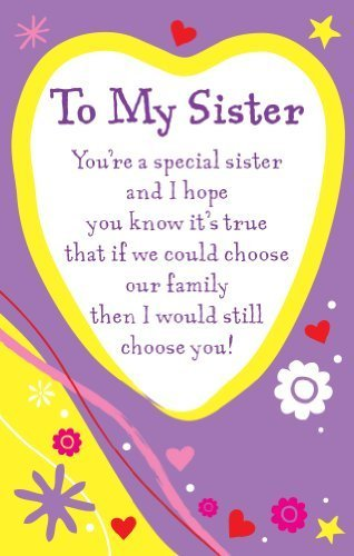 Heartwarmers To My Sister Keepsake Card & Envelope 3.5\
