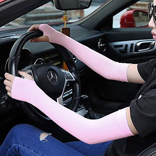 ZGGYA Outdoor di guida in bicicletta della protezione della mano Maniche ghiaccio di seta da donna Summer Long Thin Thin Anti-puff traspirante Anti-ultravioletta braccio di protezione manica manica