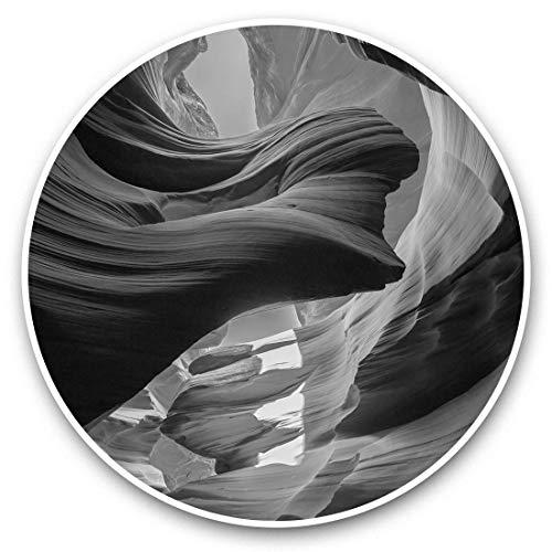 Impresionantes pegatinas de vinilo (juego de 2) 25 cm bw – Grand Canyon Desert Arizona USA Divertidas calcomanías para portátiles, tabletas, equipaje, reserva de chatarras, neveras, regalo genial #35945