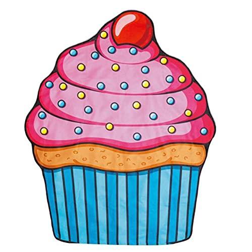 IAMZHL Piña Donut Tapiz de Playa Estera de Picnic Manta de Playa Baño para Sala de Estar Decorativo para el hogar-Cake 09-b2