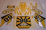 Pit Bicicleta / Moto Cross hmparts Top PEGATINA SET  99  AMARILLO