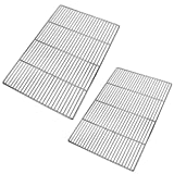 LANEJOY Barbecue Wire Mesh, Stainless Steel BBQ Grill Mat, Multifunction Grill Cooking Grid Grate 2 Pack (23.2''15.7'')