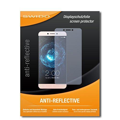 SWIDO Schutzfolie für LeEco Le 2 Pro [2 Stück] Anti-Reflex MATT Entspiegelnd, Hoher Festigkeitgrad, Schutz vor Kratzer/Bildschirmschutz, Bildschirmschutzfolie, Panzerglas-Folie