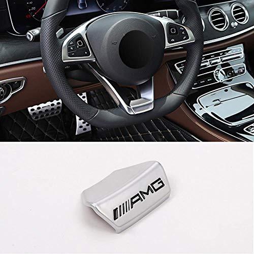 Camodifi Square volante sportivo in lega di zinco argento emblema del volante decalcomania decorazione distintivo AMG Logo per A B C E Class GLA CLA GLC GLS W213 W205 x253