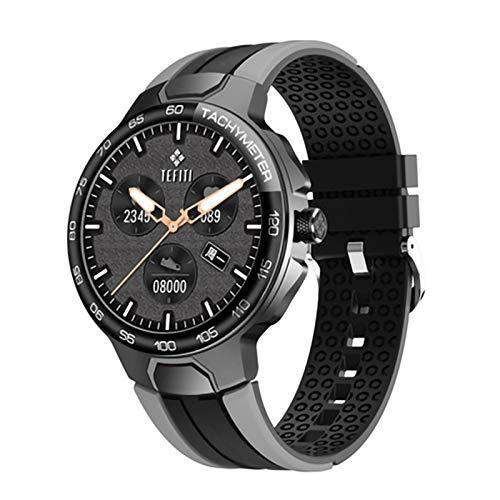 YWS E15 Smart Watch 2021 Men's Sports Watch IP68 GPS Impermeable GPS Rastreo Corazón Presión Arterial Tiempo Smart Watch para iOS Android,B