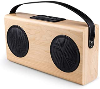 N/A Portable Wireless Outdoor Speaker Wood Bluetooth V2.1 Stereo Speaker with Mic Support Hands-Free & AUX Line in & FM & ...
