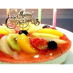 フルーツMIXレアチーズケーキ ローソク・プレート・手紙付(誕生日ケーキ・バースデーケーキ)