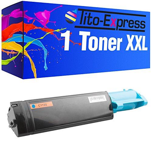 Tito-Express PlatinumSerie 1 Toner-Patrone XXL Cyan für Epson Aculaser C1100 C1100 CX11NF CX11NFC S050189