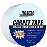 Double Sided Carpet Tape for Area Rugs,Heavy Duty Sticky Adhesive Rug Gripper for Hardwood Floors,Outdoor Rugs,Pads,Mats,Stair Treads Non-Slip,Father's Day Gift (2 Inch x 11Yards)
