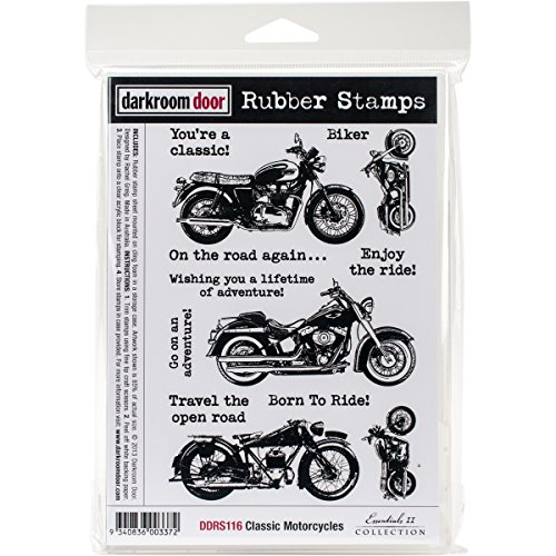 Donkerkamer deur zelf postzegels Bluetooth X 12,7 cm klassieke motorfiets, acryl, meerkleurig