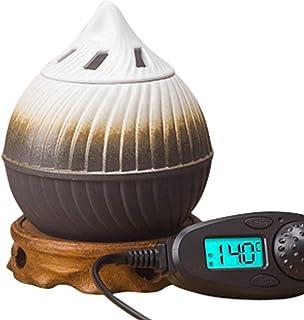 アロマディフューザー 時限セラミック電気香炉、調節可能な温度のエッセンシャルオイルの香りの拡散器、樹脂沈香アロマ炉、家/オフィス/バーの香りのウォーマー セラミック香炉