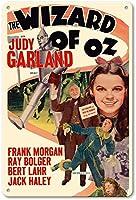 ジュディ・ガーランドのオズの魔法使いティンサイン装飾ヴィンテージウォールメタルプラークカフェバー映画ギフト結婚式誕生日警告