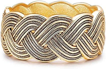 Denver Mall zhongbao Retro Metal trust Stripe Wide Bangles for Cuff Women Bracelet