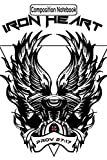 Composition Notebook: Iron Cross With Skulls And Cross Bones Biker Motorcycles Notebook