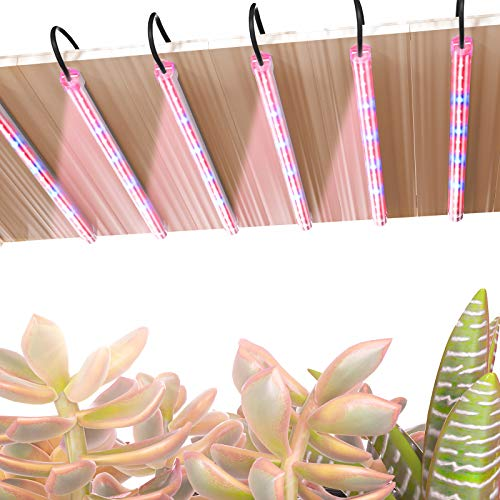 TOPLANET Pflanzenlampe, 60W pflanzenleuchte, 96 LED-Chips 4 Dimmbare Ebenen Grow Lampe mit 3H/6H/12H Timer, Rot Blau Spektrum Pflanzenlicht für Zimmerpflanzen