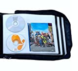 DVD CD Storage Case with Extra Wide Title Cover Pages for Blu Ray...