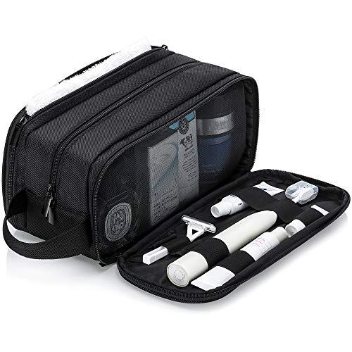 Elviros große Kulturbeutel für Männer/Frauen, tragbare Reise-Waschtasche, Dopp Kit Schminktasche, wasserfeste Kulturtasche mit einem kostenlosen Nass-Trockenbeutel