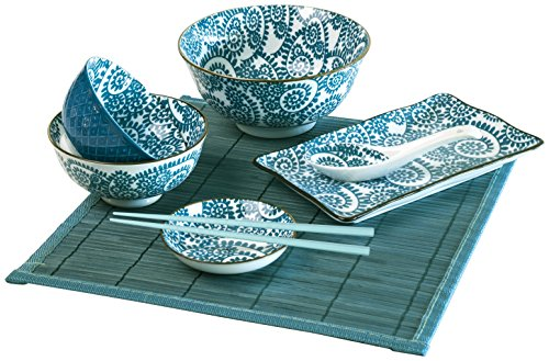 Soul Kitchen Kit Sushi 7 Piezas Oriented Azul
