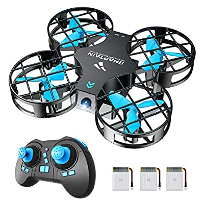 SNAPTAIN H823H Plus Mini Drone for Kids and Beginners, 2.4G Remote Control Quadcopter with 3 Rechargeable Batteries, Altitude Hold, Headless Mode, 3D Flips, One Key Return, Toys for Children, Blue