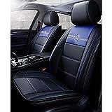 xiaofeng Impermeable Asientos de Piel de Coches de la Cubierta Completa Set Universal for BMW F10 11 15 16 20 25 30 34 70 90 E60 3 de enero de 4 5 7 Series GT X1 3 4 5 6 (Color : Azul)