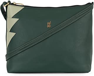 Baggit Autumn-Winter 2021 Faux Leather Women's Hobo Handbag (Green) (Lxe Oregon)