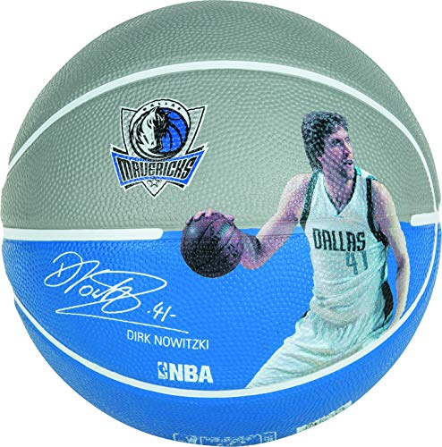 Spalding Ball NBA Player Dirk Nowitzki 83-398Z, grau/royal, 5, 3001586010315