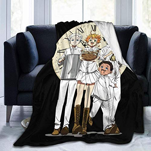 959 Custom Personalized Promised Neverland Soft Blanket Lazy Quilt Warm Plush Anti-Pilling Sofa Bed Throw Gift for Kids Adults 80x60 Inch Twin