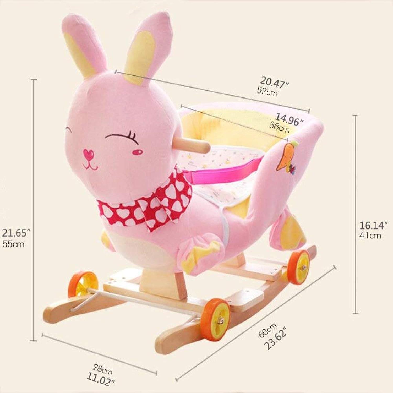木馬?ロッキング 赤ん坊のおもちゃの純木の子供2に付き1つの揺り木馬のロッキングチェア1-4歳、KidsTraditionalおもちゃ ロッキングホース (色 : B)