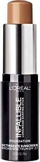 L'Oreal Paris Makeup Infallible Longwear Foundation Shiping Sticking Stup ، Wear 24hr Wear، Medium to Full Cover Cover Foundation Stick، 410 Cocoa، 0.3 oz.