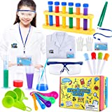 TEPSMIGO Kids Science Experiment Kit with Lab Coat, Scientist Costume Dress Up and Role Pl...