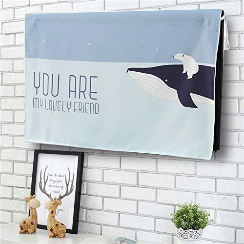 catch-L Interior Cubierta De TV Montado En La Pared Cubierta De La Computadora LCD Estuche Protector (Color : Whale, Size : 50/20inch(125 * 78cm))