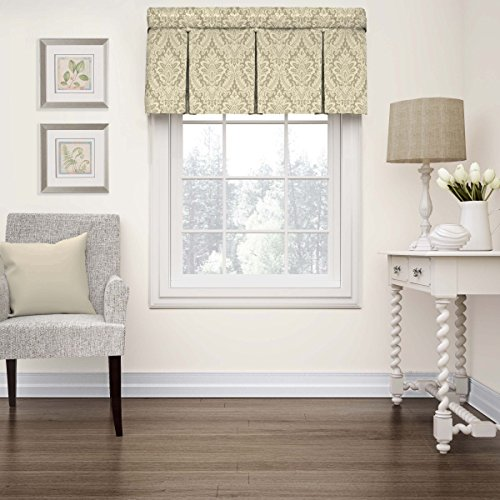 """WAVERLY Valances for Windows - Donnington 52"""" x 18"""" Short Curtain Valance Small Window Curtains Bathroom, Living Room and Kitchens, Linen"""