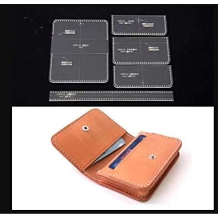 【美々杏】レザークラフト用型紙 アクリル型 ハンドメイド カード入れ DIY初心者OK (名刺ケース)