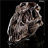 XDH-RTS Lifesize Human Skull Statue Sculpture Premium Polyresin Craft Decorative Dinosaur Head Model Halloween Ornaments
