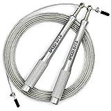 Sportvitae Speed SV1.0 Comba de Velocidad Speed Rope Mangos Aluminio Ligeros y Cómodos Cable Ajustable Acero 3 MT - 2,5 mm Cuerda Ideal para Crossfit, Boxeo, Fitness Hombre y Mujer