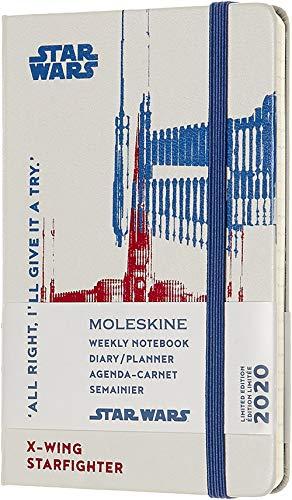 Moleskine - Agenda Semanal 12 Meses 2020 Star Wars Edición Especial Star Hunt X,Wing con Tapa Dura y Cierre Elástico, Tamaño de Bolsillo 9 x 14 cm, 144 Páginas (AGENDA 12 MOIS EDT LIMITEE)