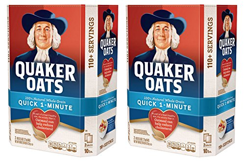 Quaker Oats 100% Whole Grain Quick 1-Minute Oatmeal Instant Oatmeal - 10 Pounds - Pack f 2