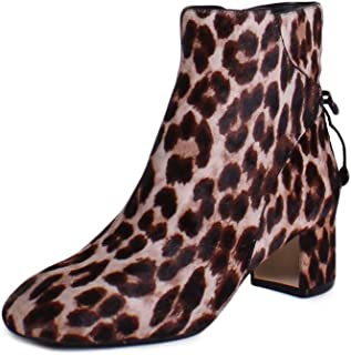 Womens 42164 Calf Hair Closed Toe Ankle, Leopard, Leopard, Size 6.5 Z