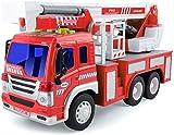 GizmoVine Camion De Bomberos De Bomberos con Luces Y Sonidos, Tirar De VehíCulos Coches De Juguetes De para NiñOs PequeñOs, NiñOs Y NiñAs