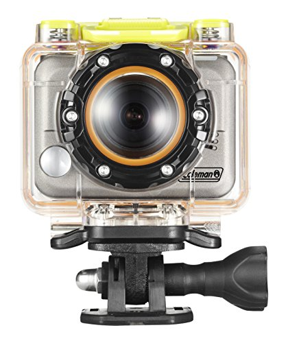 Coleman Bravo CX10WP 1080p HD Helmet and Action Camera with Mounts and Waterproof Housing (Silver)