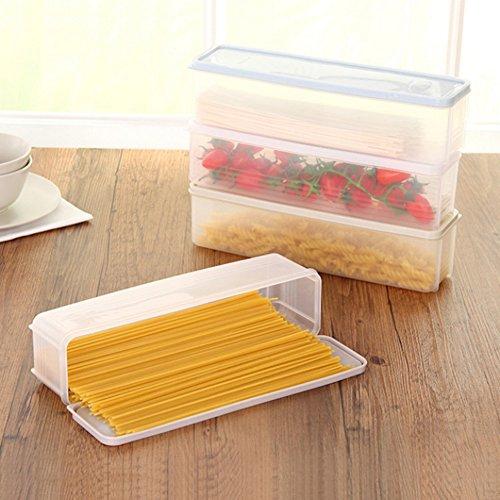 quanjucheer Längliche Aufbewahrungsbox für Kühlschrank, Schublade, Küchenschrank, Lebensmittelregal 30cm x 8.2cm x 8cm lichtgrün